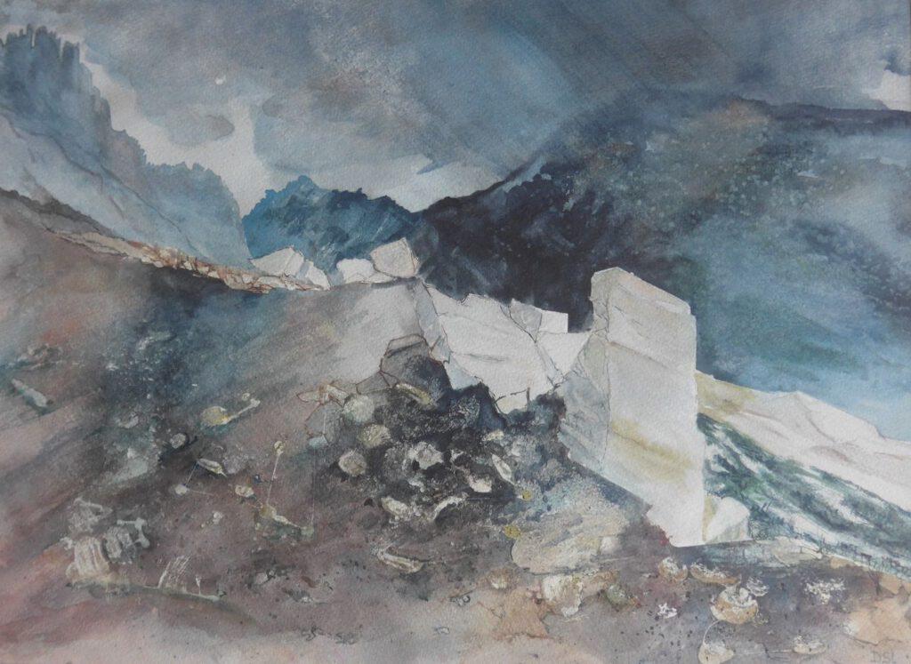 Dick Slothouwer-Landschap in Wales-Aquarel