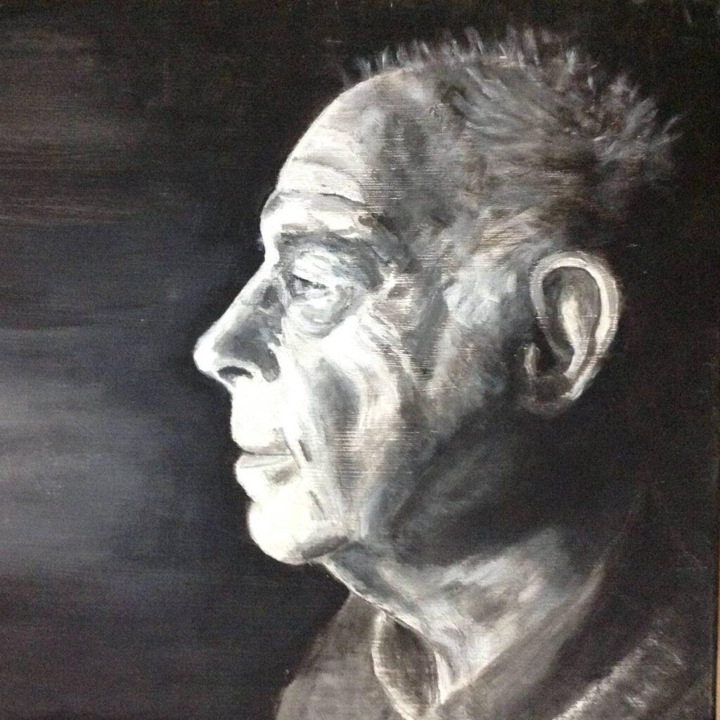 Dick Slothouwer-Zelfportret-acrylverf