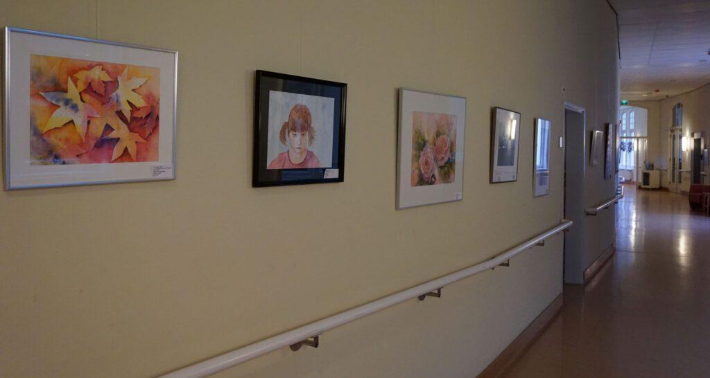 Expositie van vereniging voor schilderen, tekenen en aquarelleren Het Gelders Palet in Oranje Nassau's Oord in Renkum 2019
