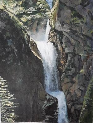 Ineke Kok-Waterval Noorwegen-olieverf
