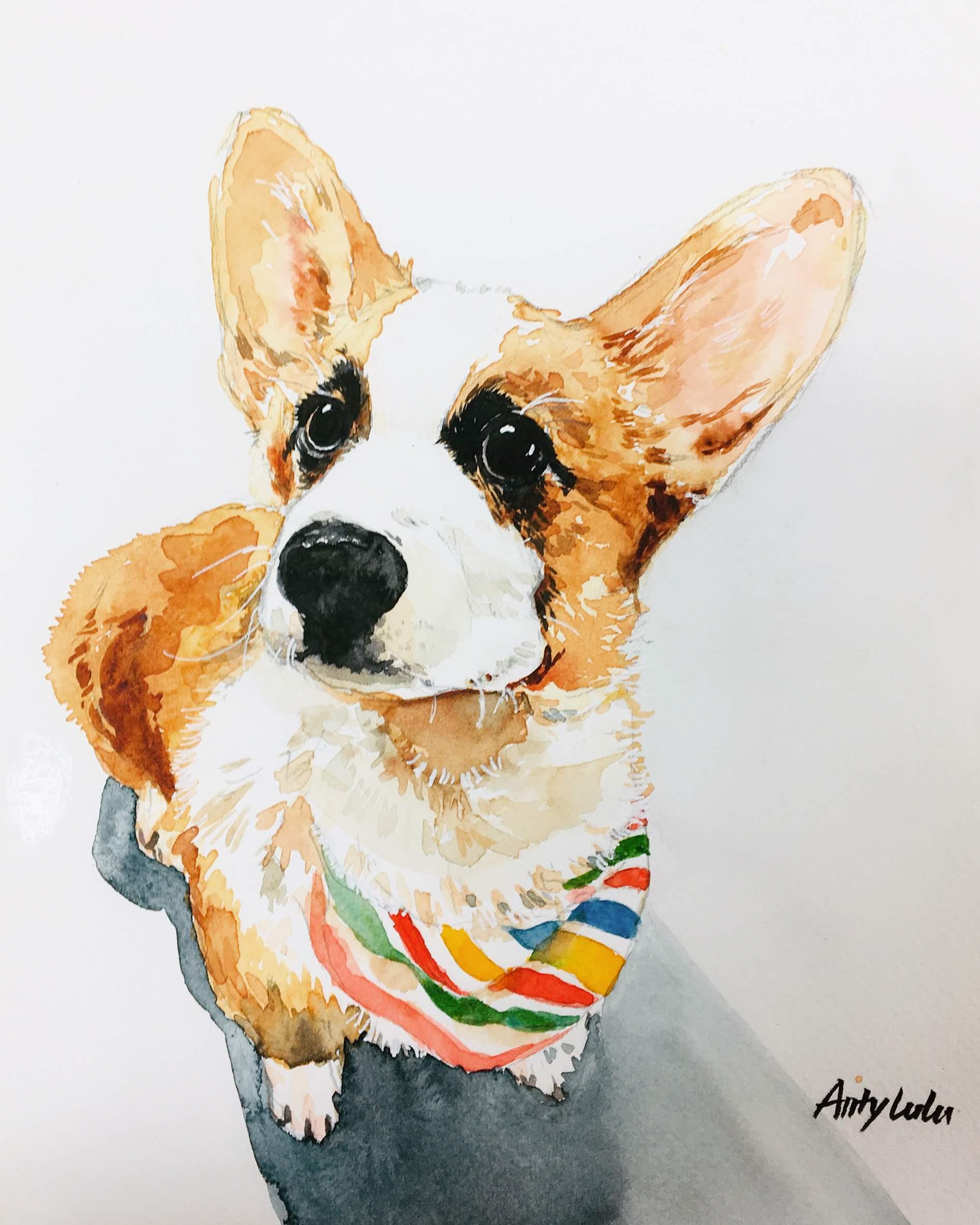 Lu Zhang-Fido-watercolor