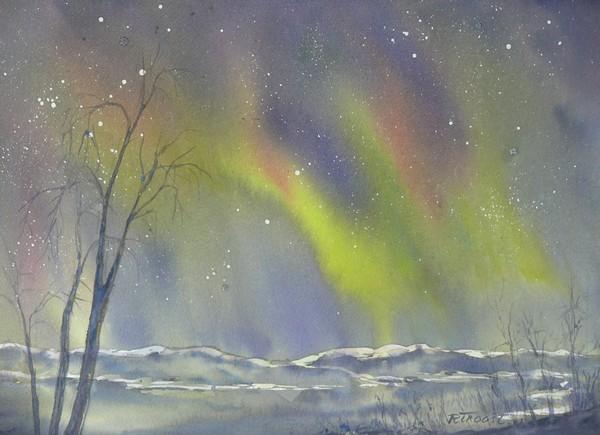 Ria Klompmaker-Abisko Nat Park 3 Zweeds Lapland-aquarel