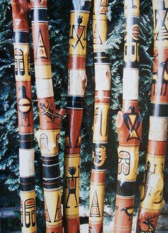 Ans Koenders-boomtakken met indiaanse motieven-acryl