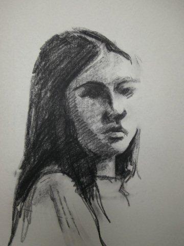Ans Koenders-portret van vroeger-siberisch krijt