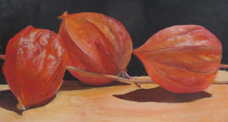 Henk Voorbij-Lampionplantje-acryl