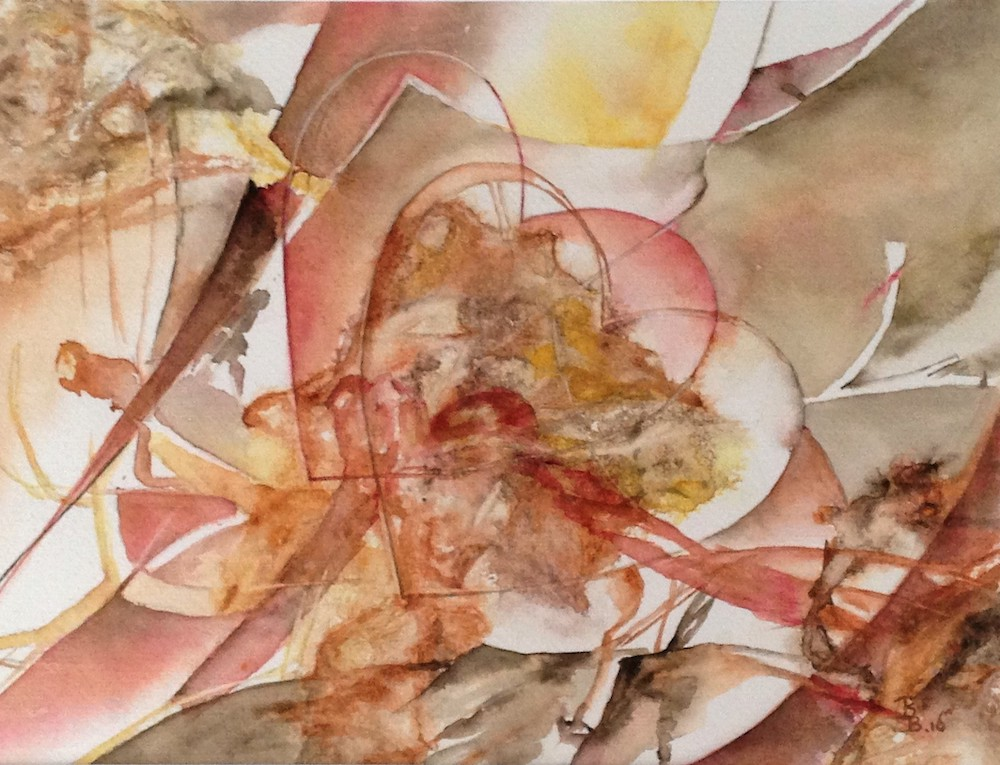 Bep Buijink-Het Geheim-aquarel