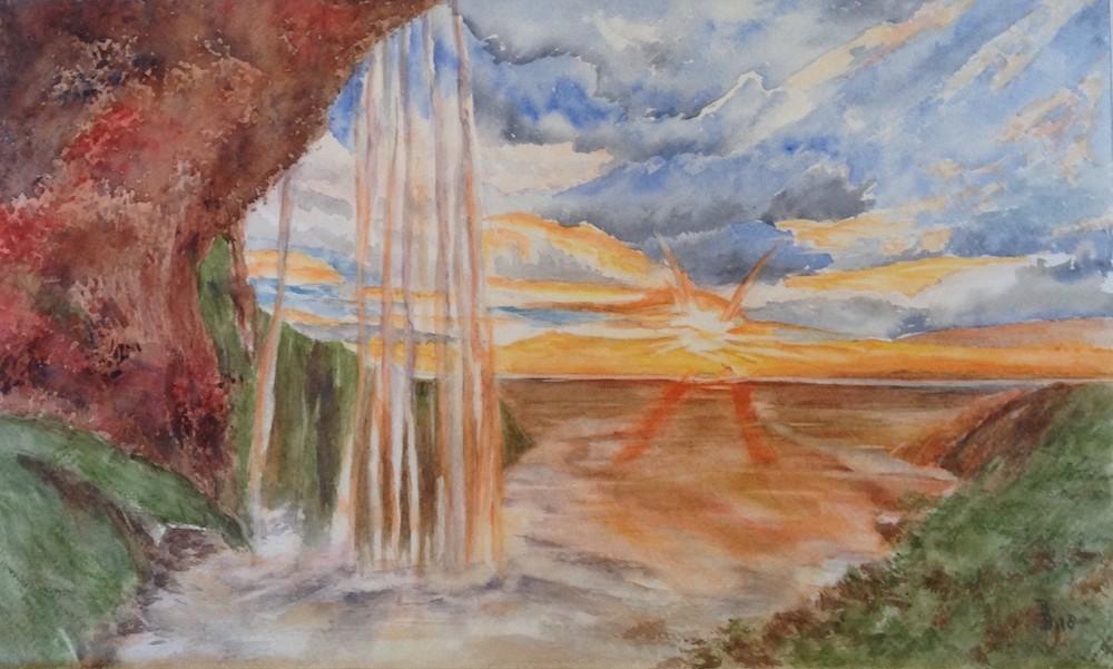 Bep Buijink-Seljalandfoss-aquarel
