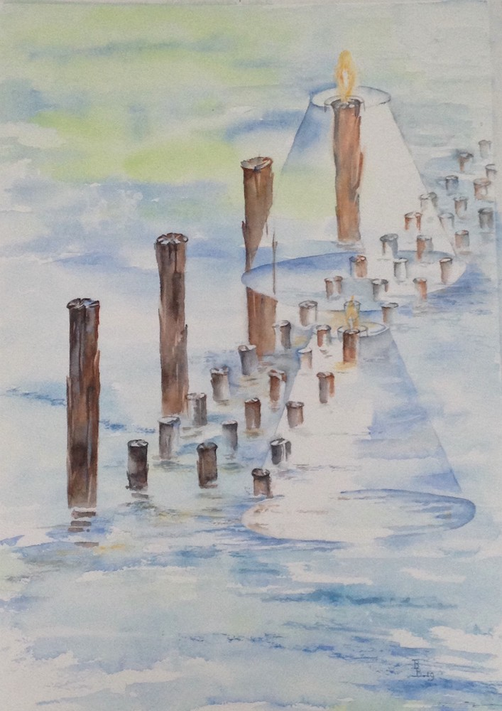 Bep Buijink-Wagenings Water-aquarel