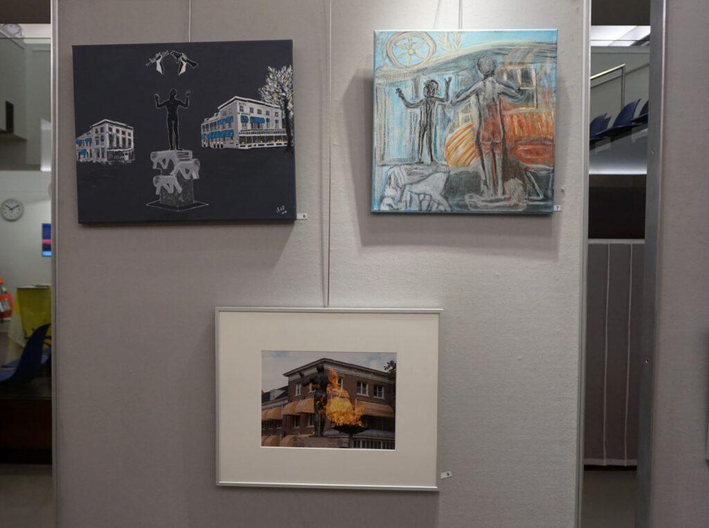 Expositie Het Gelders Palet 75 jaar Vrijheid in Beeld in bibliotheek Wageningen 2020